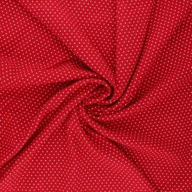 Dotted viscose fabric - rouge Almeria x 10cm