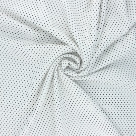 Dotted viscose fabric - white Almeria x 10cm