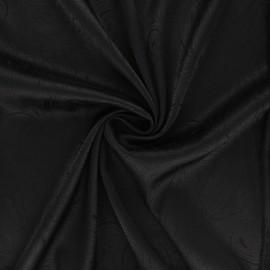 Satin jacquard lining fabric - black Paisley x 10cm