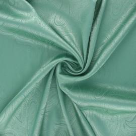 Tissu doublure jacquard satiné Paisley - menthe x 10cm