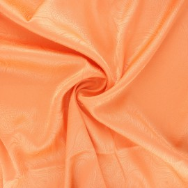 Satin jacquard lining fabric - tangerine Paisley x 10cm
