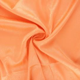 Tissu doublure jacquard satiné Paisley - mandarine x 10cm