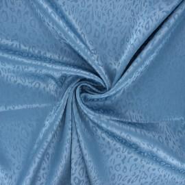 Tissu doublure jacquard satiné Fancy - bleu x 10cm