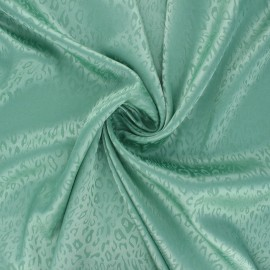 Tissu doublure jacquard satiné Fancy - menthe x 10cm