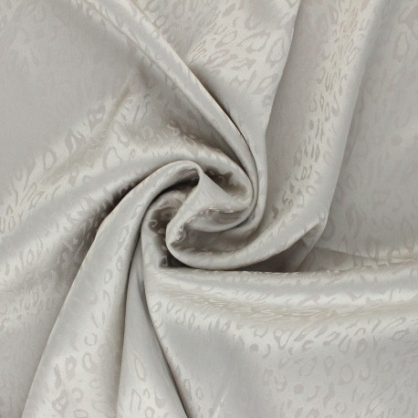 Satin jacquard lining fabric - greige Fancy x 10cm