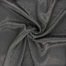 Satin jacquard lining fabric - anthracite Fancy x 10cm