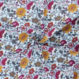 Tissu coton popeline Sonya - bleu clair x 10cm