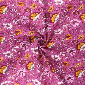 Tissu coton popeline Sonya - violine x 10cm