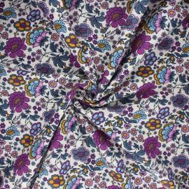 Tissu coton popeline Sonya - blanc x 10cm