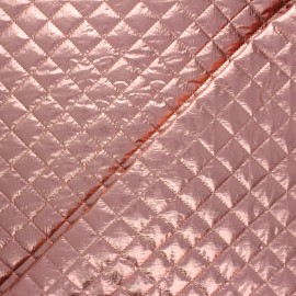 Single-sided quilted metallic fabric - old pink Wonka x 10cm