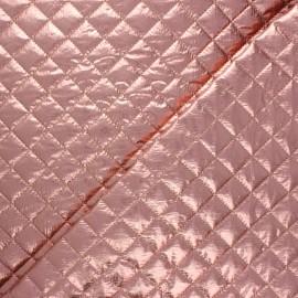 Tissu matelassé métallisé Wonka - vieux rose x 10cm