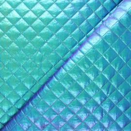Tissu matelassé métallisé Wonka - vert irisé x 10cm