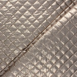 Tissu matelassé métallisé Wonka - taupe x 10cm