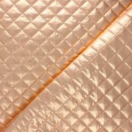 Tissu matelassé métallisé Wonka - pêche x 10cm