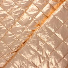 Tissu matelassé métallisé Willy - pêche x 10cm