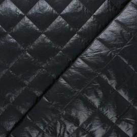 Tissu matelassé métallisé Willy - noir x 10cm
