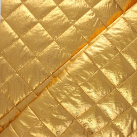 Tissu matelassé métallisé Willy - doré x 10cm