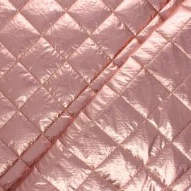 Tissu matelassé métallisé Willy - vieux rose x 10cm