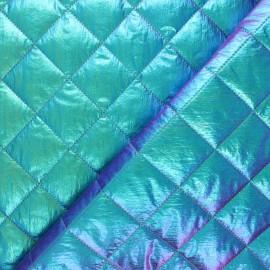Tissu matelassé métallisé Willy - vert irisé x 10cm