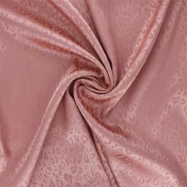 Satin jacquard lining fabric - old pink Fancy x 10cm