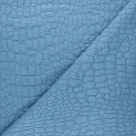Textured viscose knit fabric - swell blue Girafe x 10cm