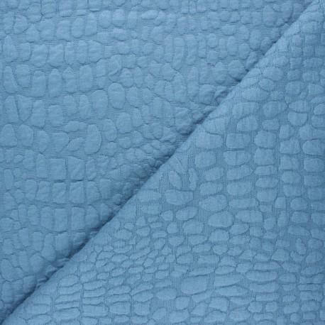 Textured viscose knit fabric - swell blue Girafe x 10cm