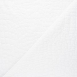 Textured viscose knit fabric - white Girafe x 10cm