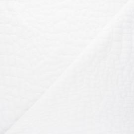 Tissu maille viscose texturé Girafe - blanc x 10cm