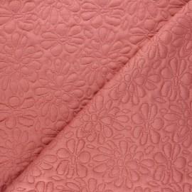 Tissu maille viscose texturé Daisy - bois de rose x 10cm