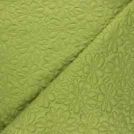 Tissu maille viscose texturé Daisy - vert x 10cm