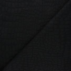Tissu maille viscose texturé Girafe - noir x 10cm