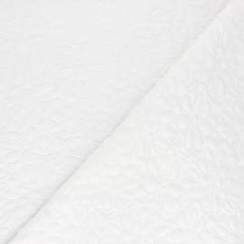 Tissu maille viscose texturé Daisy - blanc x 10cm