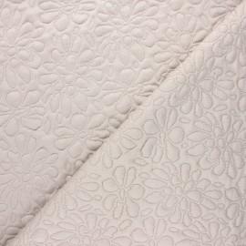 Tissu maille viscose texturé Daisy - grège x 10cm