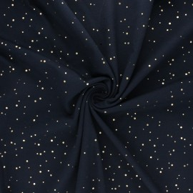 Printed Jersey fabric - night blue Passion dot x 10cm