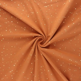 Printed Jersey fabric - orange Passion dot x 10cm