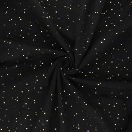 Printed Jersey fabric - black Passion dot x 10cm
