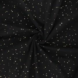Tissu jersey Passion dot - noir x 10cm