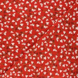 Tissu jersey viscose Mélodie - rouge x 10 cm