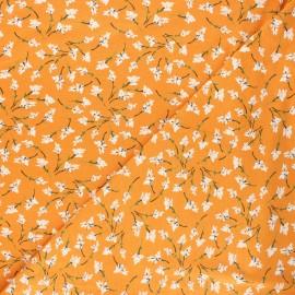 Viscose jersey fabric - mustard yellow Mélodie x 10 cm