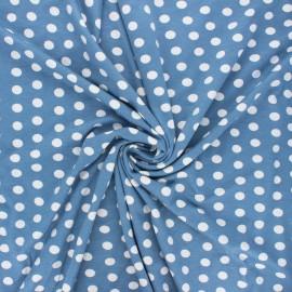 Tissu jersey viscose Leiria - bleu houle x 10 cm