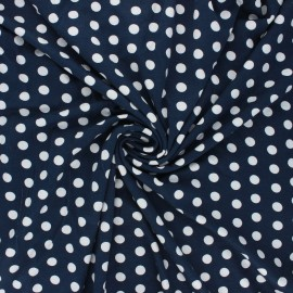 Viscose jersey fabric - night blue Leiria x 10 cm
