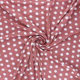 Tissu jersey viscose Leiria - bois de rose x 10 cm