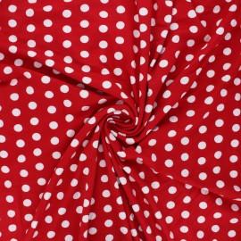 Tissu jersey viscose Leiria - rouge x 10 cm