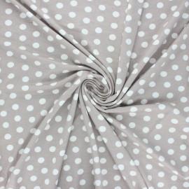 Tissu jersey viscose Leiria - grège x 10 cm