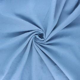 Tissu voile de coton plumetis Aéria - bleu clair x 10cm
