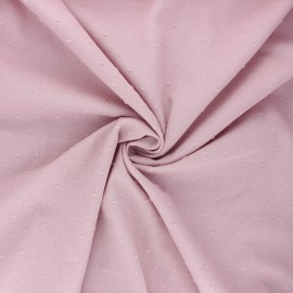 Plumetis cotton voile fabric - water pink Aéria x 10cm