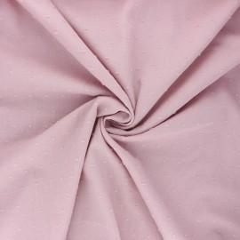 Tissu voile de coton plumetis Aéria - eau de rose x 10cm