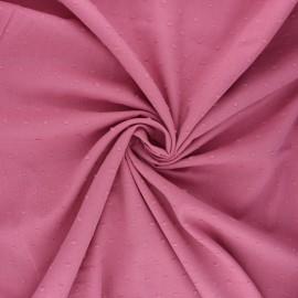 Plumetis cotton voile fabric - rosewood Aéria x 10cm