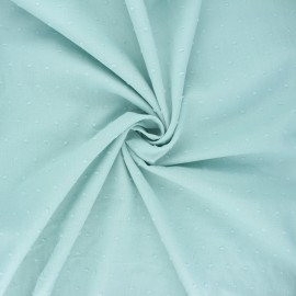 Plumetis cotton voile fabric - opalin green Aéria x 10cm