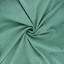 Tissu voile de coton plumetis Aéria - eucalyptus x 10cm